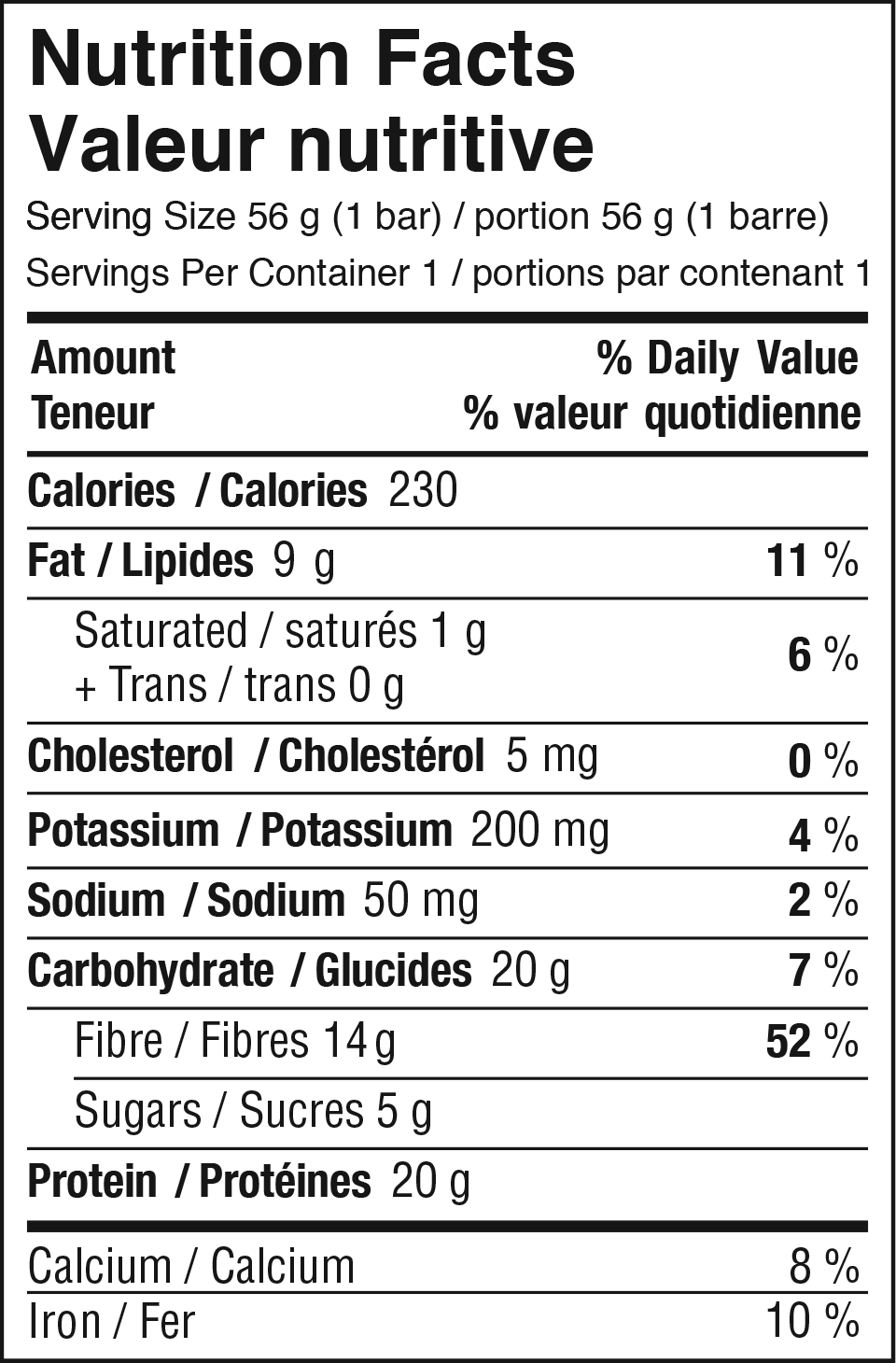 Chocolate Hazelnut Nutrition Facts