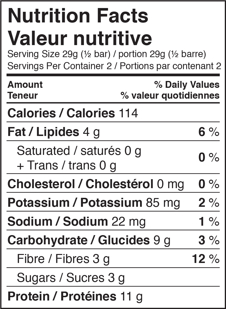 Cinnamon Honey Nutrition Facts