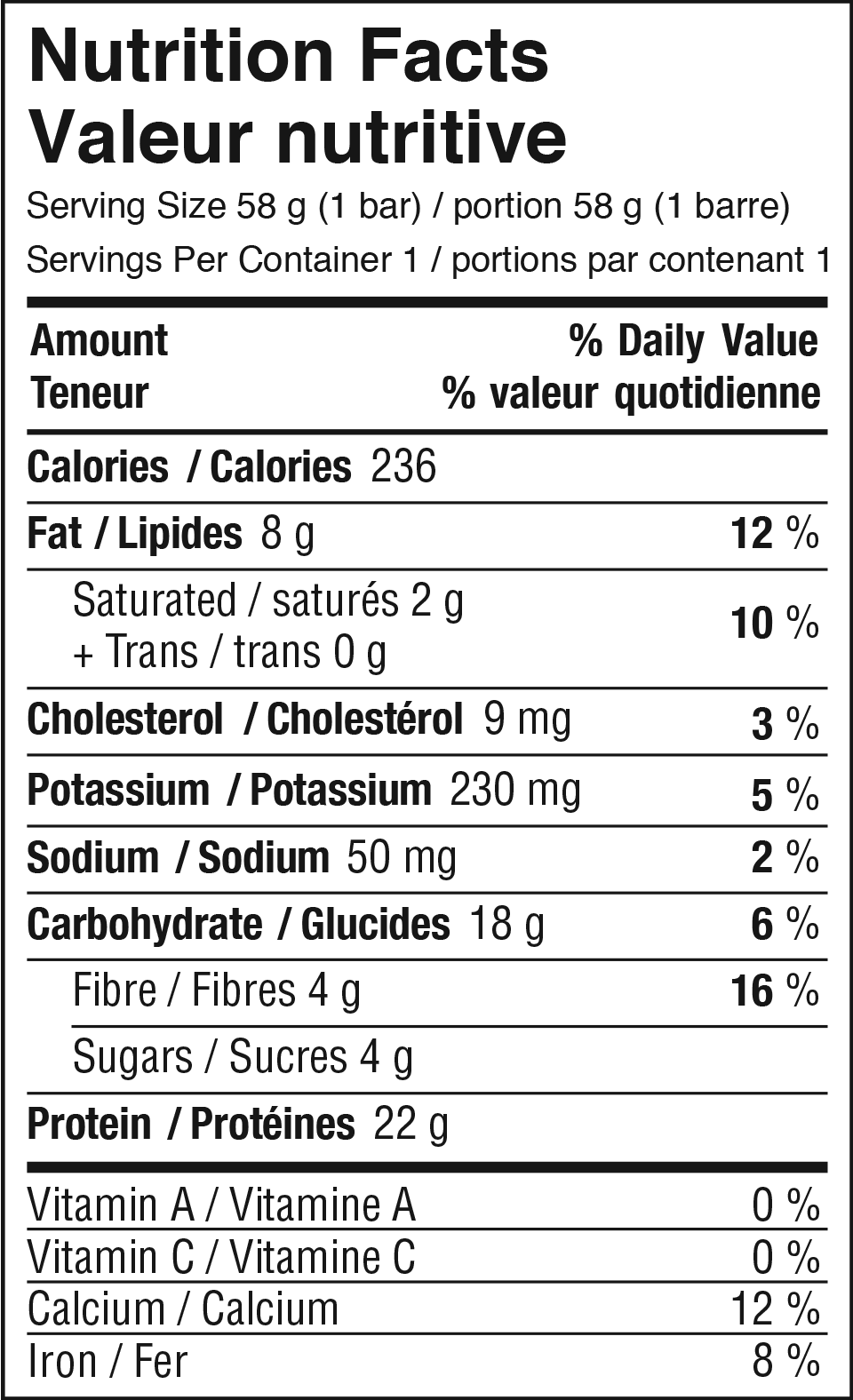 Double Chocolate Brownie Nutrition Facts